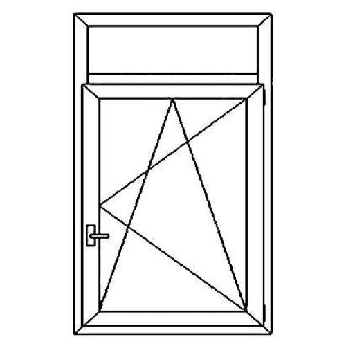 Окно с верхней фрамугой