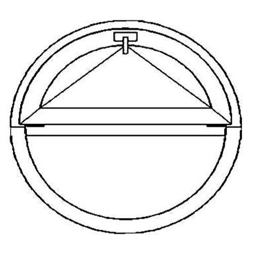 Окно круглое с откидной створкой