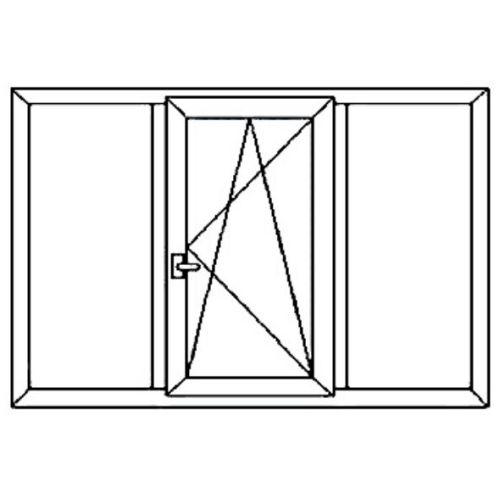 Окно 3х-створчатое