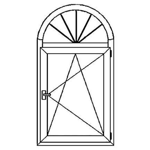 Окно арочное с декоративными элементами