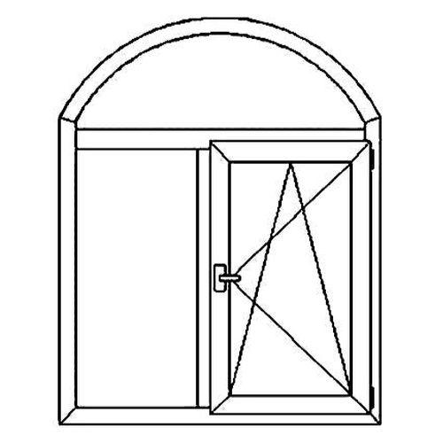 Окно арочное 2х-створчатое