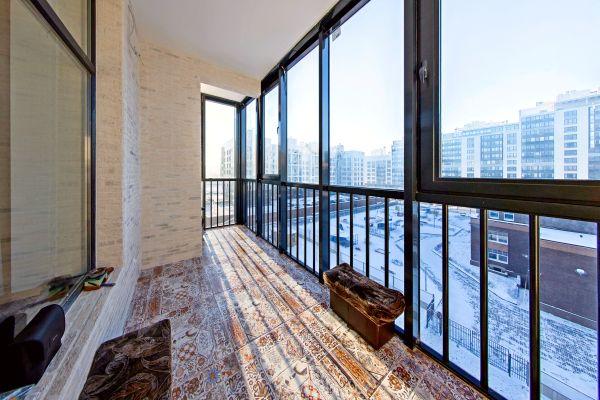 Отделка балконов плиткой
