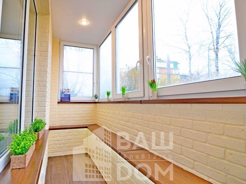 Профессиональная отделка балкона